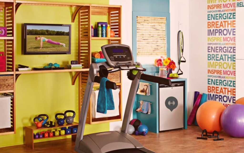 treadmill on your home gym